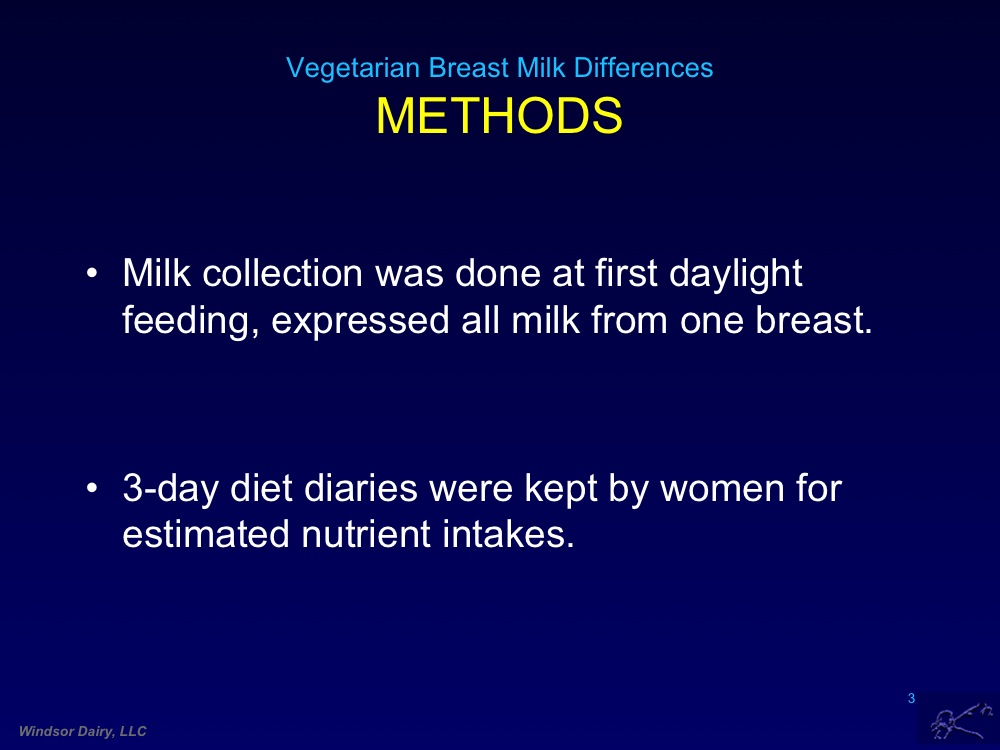 Breast Milk Changes In Long Term Vegetarians.