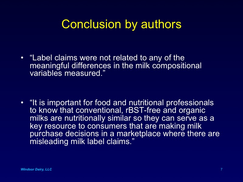 Fatty Acids in Raw Milk
