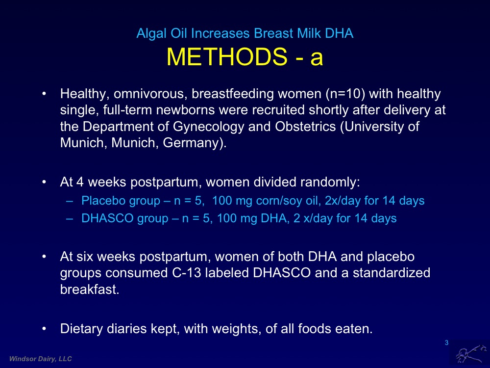 Breast Milk Changes due to DHA in Algal Oil. Diet Makes a Difference in Your Breast Milk
