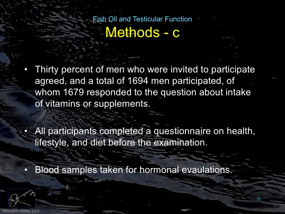 Fish Oil Supplements and Testicular Function