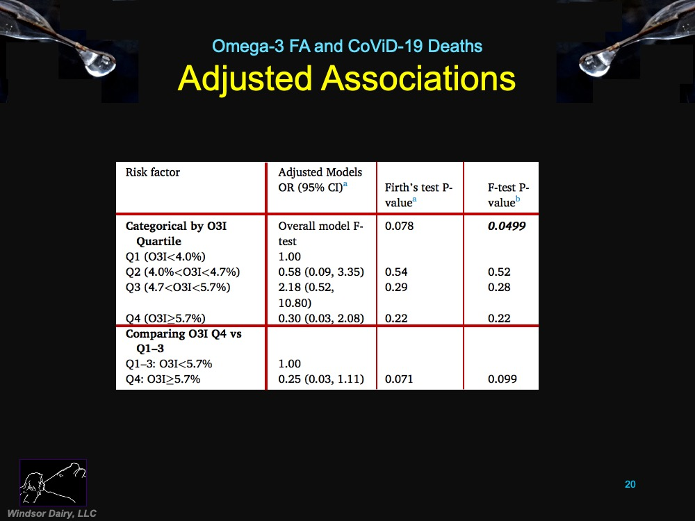 Blood Omega-3 Fatty Acids and Death from CoViD-19
