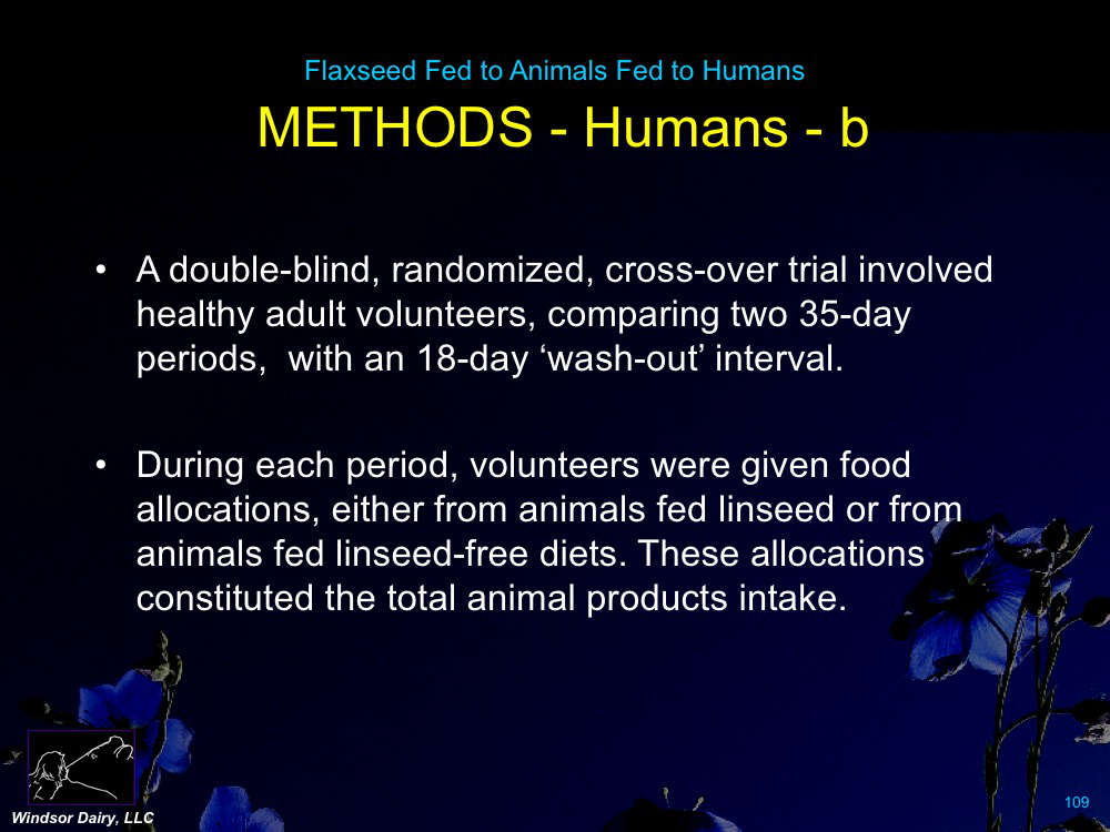 The French fed flaxseed to food producing animals, then fed those animals to humans